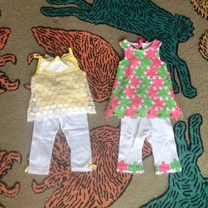 2 mud pie outfits, 6-9 month
